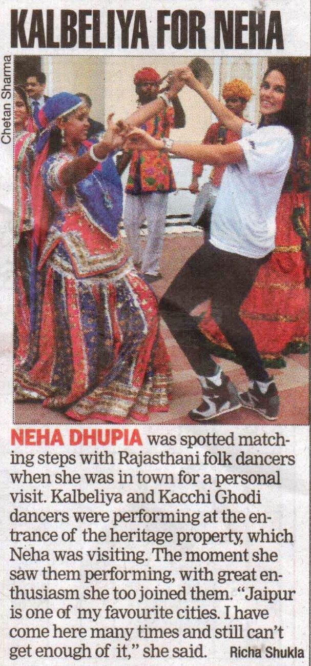 Jaipur Times - Kalbeliya for Neha