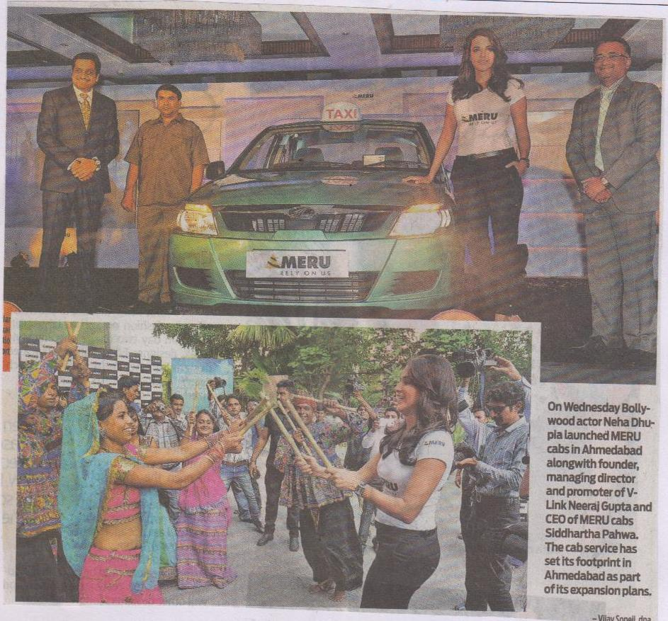 Neha Dhupia graces the launch of Meru Cabs in Ahmedabad, DNA After Hrs
