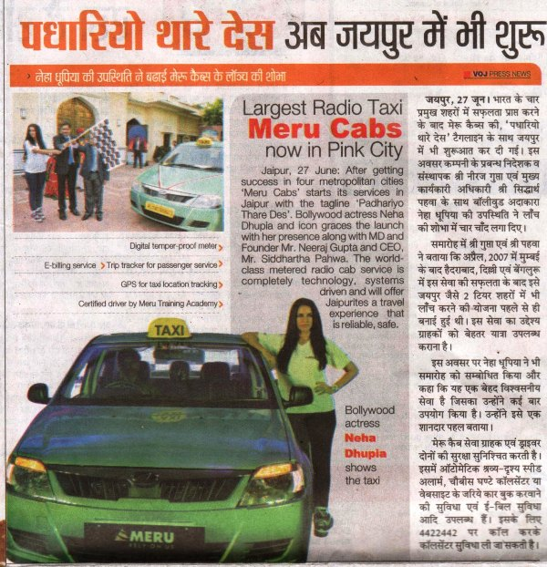 Voice of Jaipur- Largest Radio Taxi Meru Cabs now in Pink City